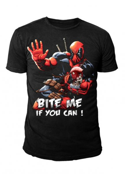 Deadpool - Bite Me Herren T-Shirt