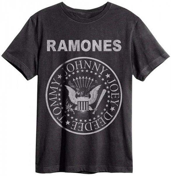 Amplified Ramones Logo T-Shirt Grau
