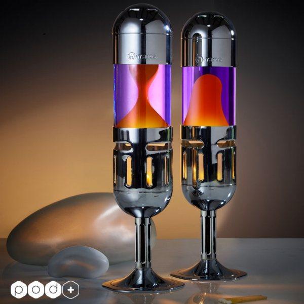 Mathmos - Pod+ Lavalampe - Violet/Orange