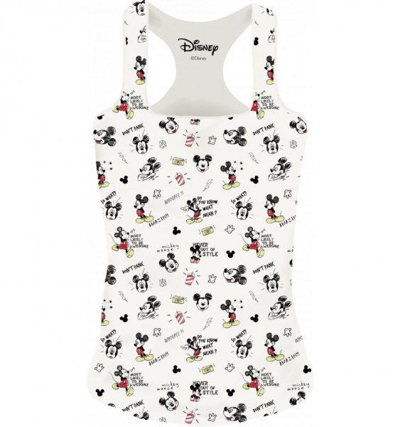 Mickey Mouse Damen Tank Top Sketch Weiss