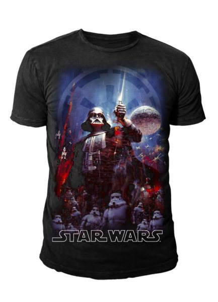 Star Wars - Krieg der Sterne Herren T-Shirt - The Empire (Black)