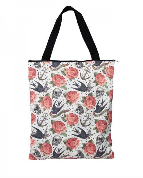Liquor Brand Rose Tattoo Shopper Tasche