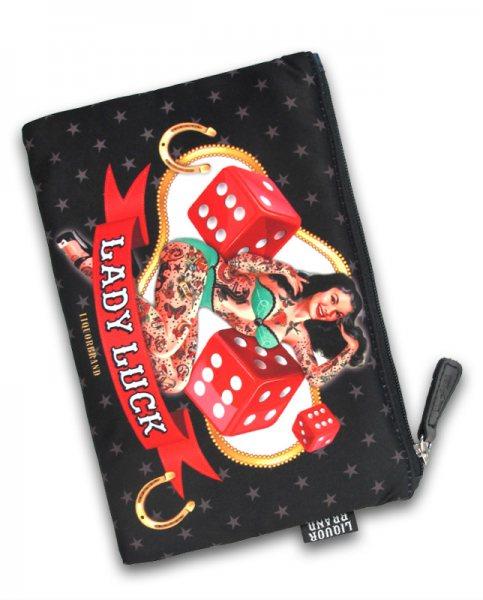 Liquor Brand Lady Luck Pin Up Girl Damen Kosmetik Tasche Geldbeutel