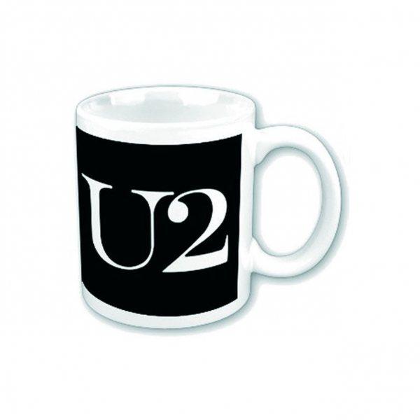 U2 Logo Tasse Becher im Geschenkkarton