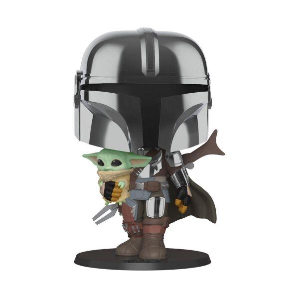 Star Wars The Mandalorian Chrom Baby Yoda Super Size Funko Pop Vinyl Figur