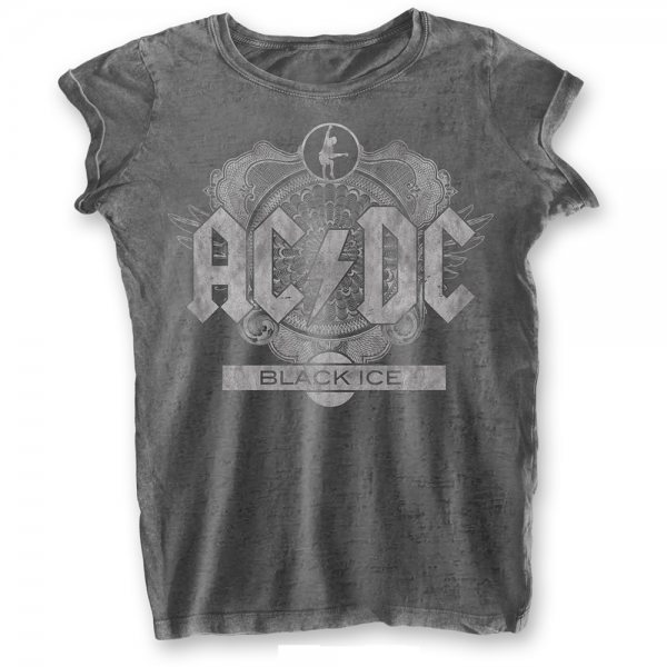 AC DC Black Ice T-Shirt Damen Burnout