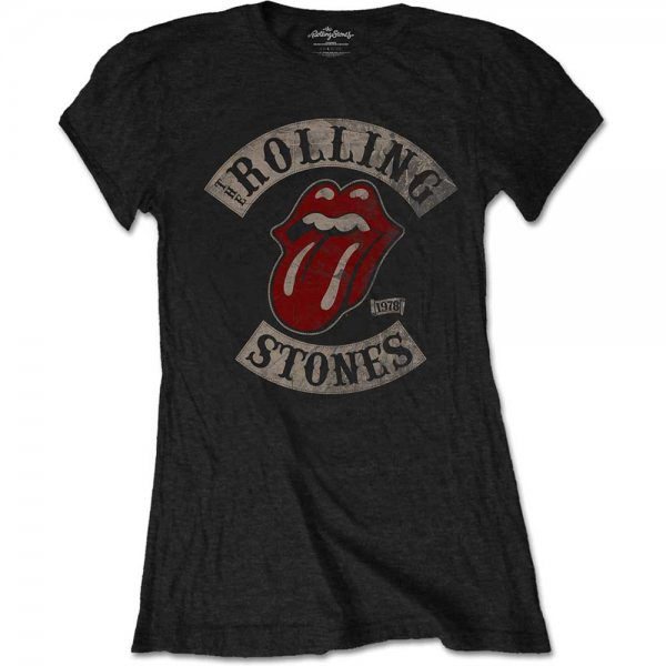 Rolling Stones Tour 78 Tongue T-Shirt Damen