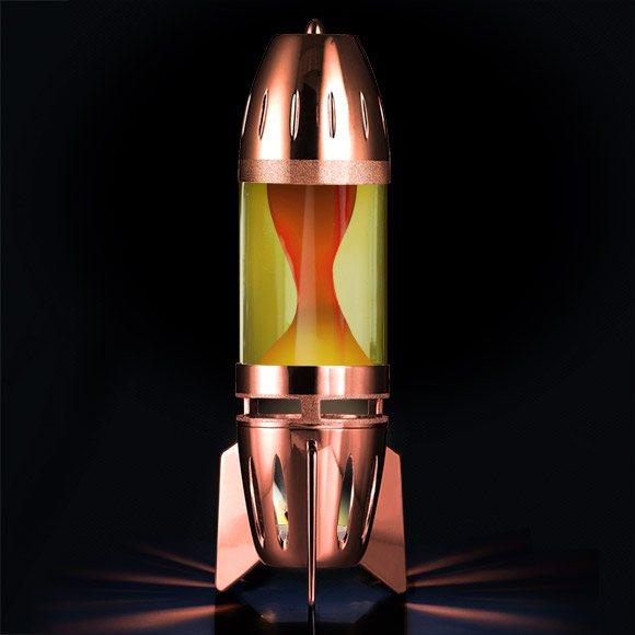 Mathmos Fireflow X Lavalampe Kupfer Gelb/Orange