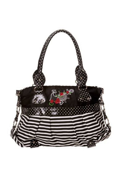 Banned Striped Anker Matrosen Rockabilly Damen Handtasche