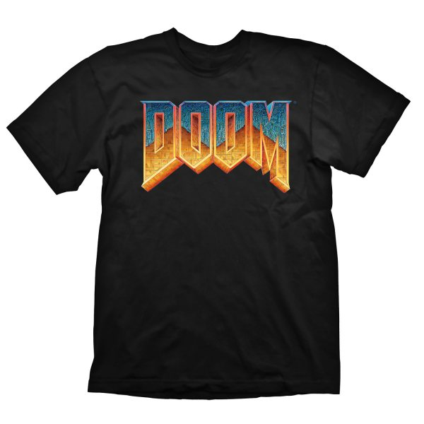 Doom Classic Logo Herren T-Shirt Schwarz