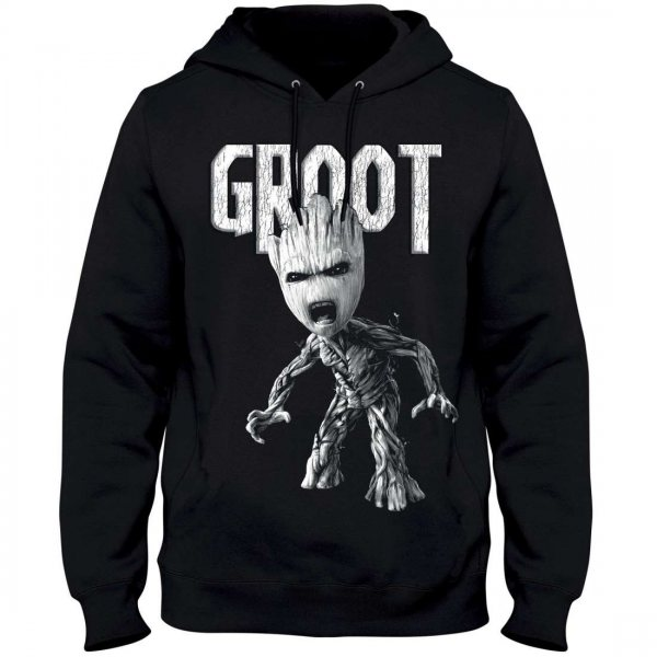 Guardians of the Galaxy Angry Groot Herren Kapuzenpullover Hoody
