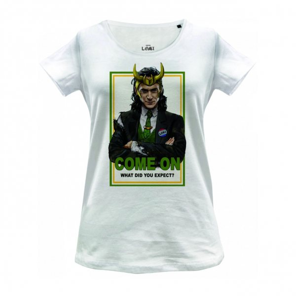 Marvel Comics Loki Come On Damen T-Shirt Weiss