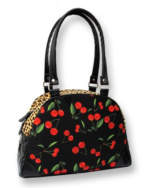 Liquor Brand - Bowling Handtasche - Leopard Cherrys