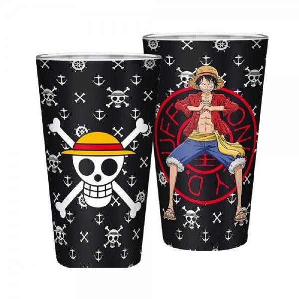 One Piece Monkey D Ruffy Metallic Trinkglas