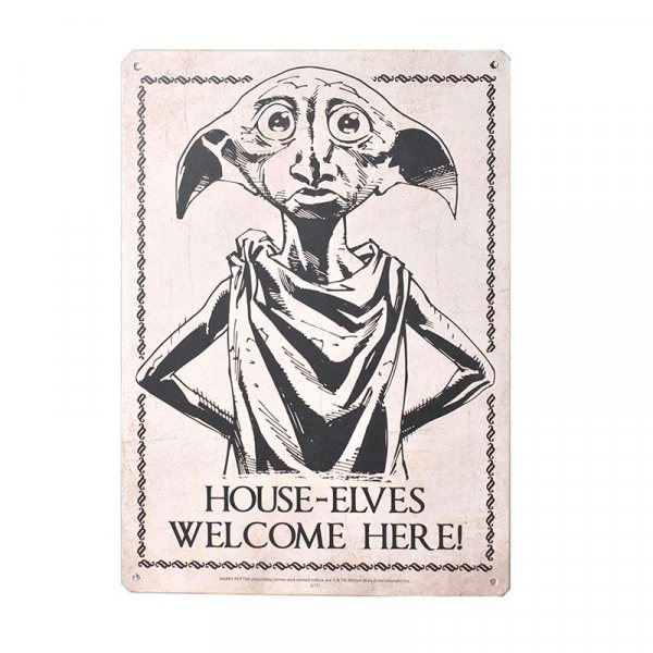 Harry Potter Dobby der Hauself Blech Schild