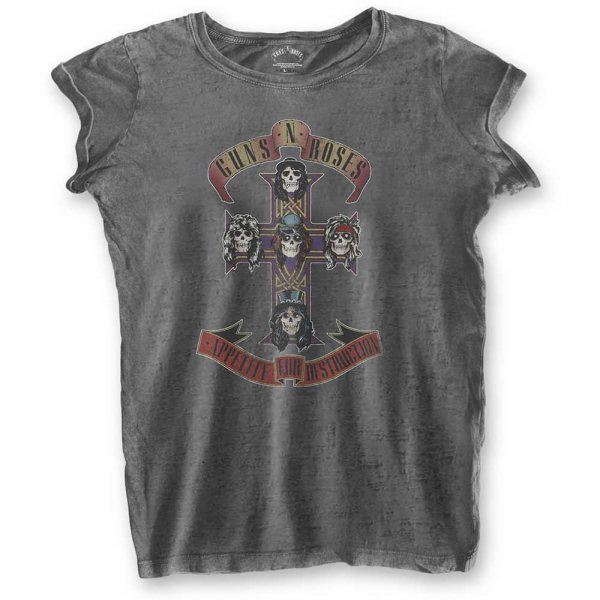 Guns N Roses Appetite for Destruction Oversizen T-Shirt Damen Grau