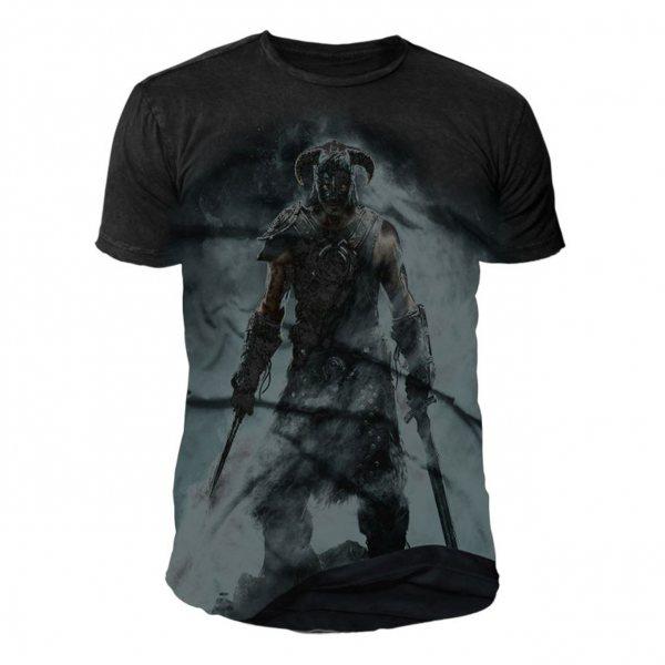 The Elder Scrolls Skyrim Dovahkiin T-Shirt Herren Schwarz
