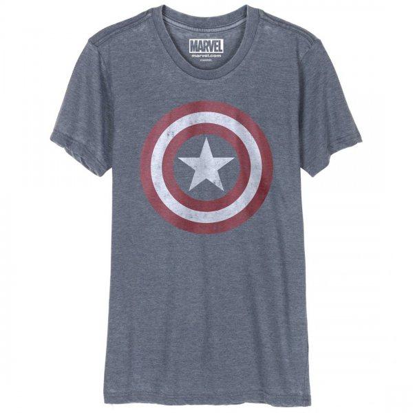 Captain America Vintage Logo Herren T-Shirt