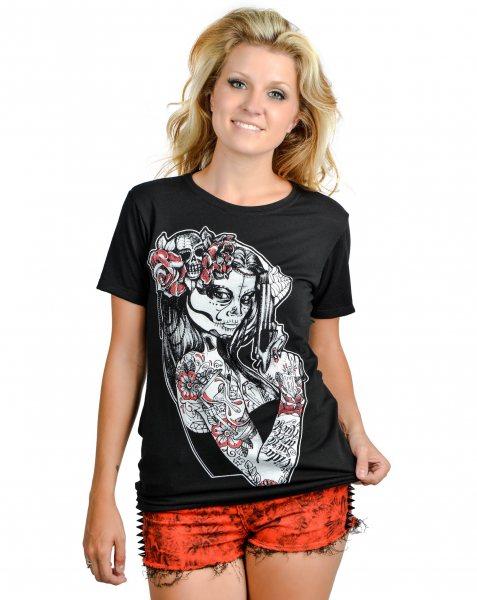 Too Fast Brand - Anna Maria Tattoo Damen T-Shirt