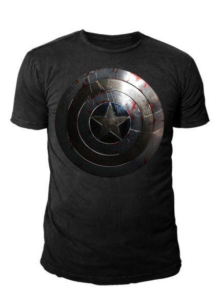 Captain America Silver Shield Herren T-Shirt