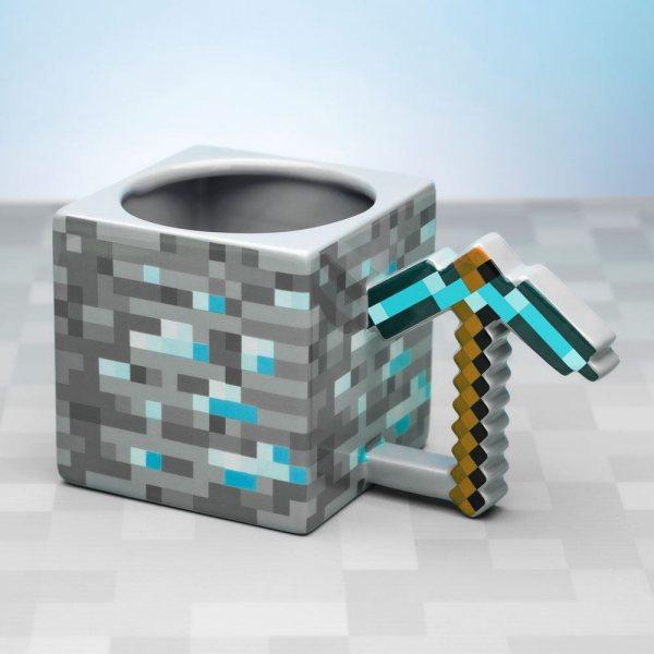 Minecraft Spitzhacke 3D Tasse