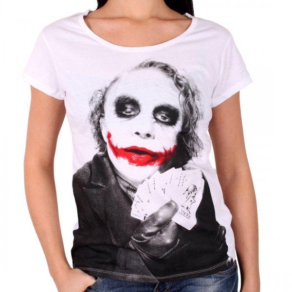 Batman Why so Serius Damen T-Shirt Weiss