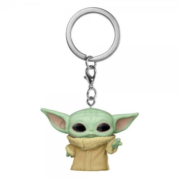 Star Wars The Mandalorian Baby Yoda The Force Funko Pop Schlüsselanhänger