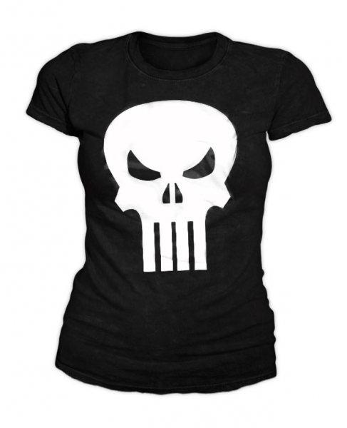 Punisher Logo Damen T-Shirt Schwarz