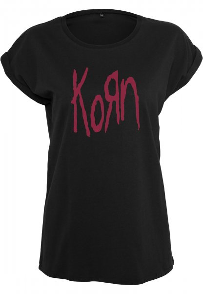 Merchcode Korn Rock Band Logo Oversize Damen T-Shirt