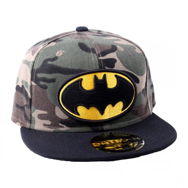 Batman Logo Snapback Cap Camouflage