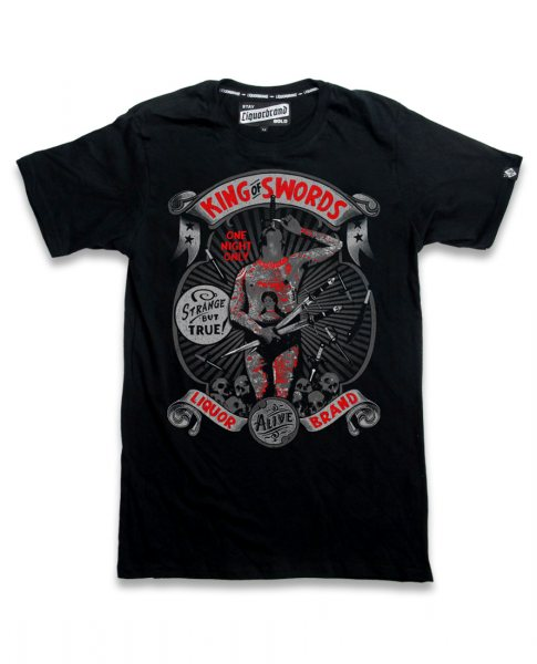 Liquor Brand King of Sword Herren Tattoo T-Shirt