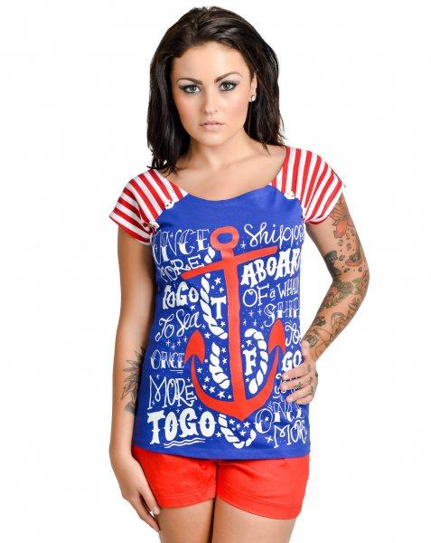 Too Fast Brand - All Aboard Sailor Damen T-Shirt