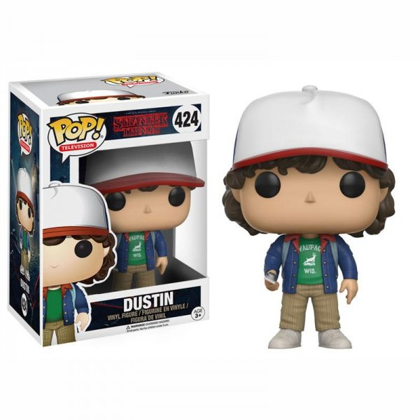 Stranger Things - Dustin Funko Pop Vinyl Figur #424