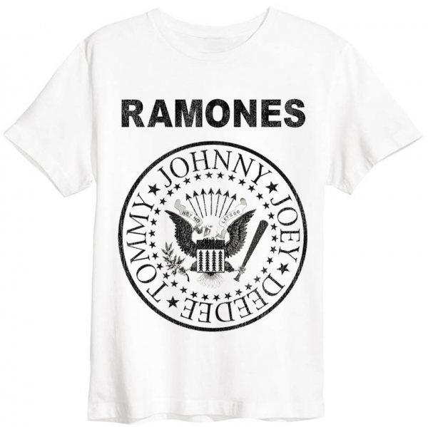 Amplified Ramones Logo T-Shirt Weiss