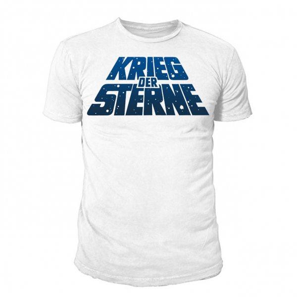 Star Wars Krieg der Sterne Logo Herren T-Shirt Weiß