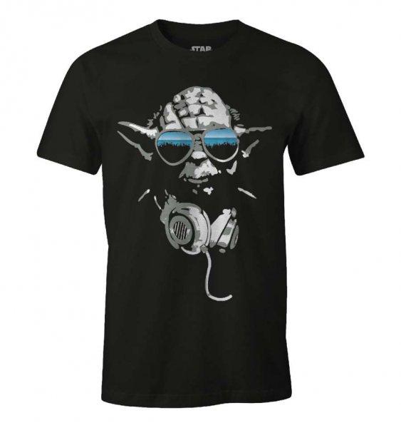 Star Wars DJ Yoda Herren T-Shirt Schwarz