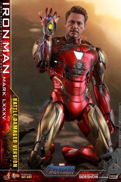 Avengers Endgame Iron Man Tony Stark Diecast Hot Toys Figur