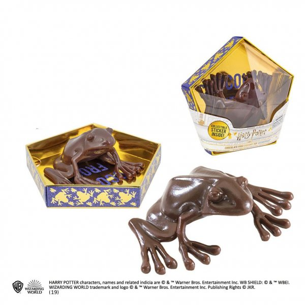 Harry Potter Schokofrosch Replik Figur Anti Stress Noble Collection