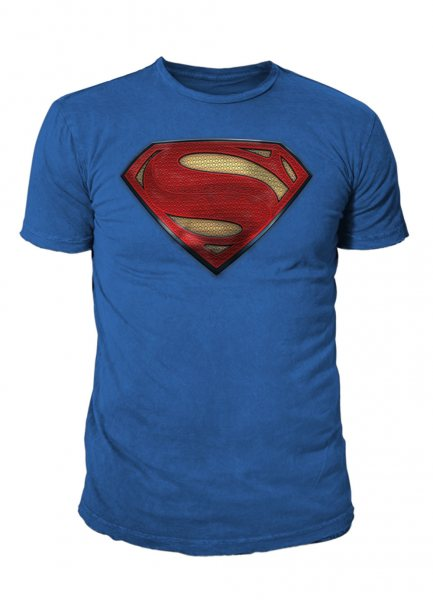 Superman 3D Logo Herren T-Shirt Blau