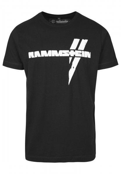 Rammstein Logo T-Shirt mit Rückenprint Schwarz