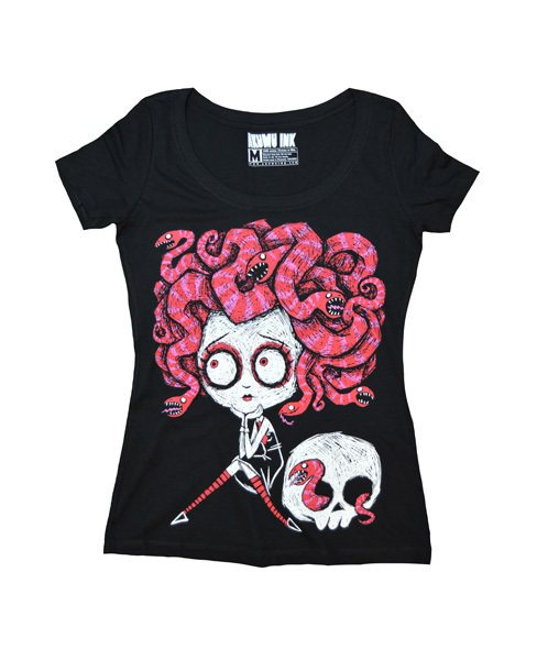 Akumu Ink Medusa Skull Love Nightmare Damen T-Shirt