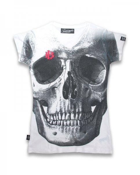 Liquor Brand Skull Tattoo Damen T-Shirt
