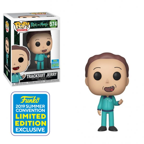 Tracksuit Jerry Funko Pop Figur Rick and Morty SDCC