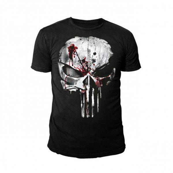 Marvel Punisher Bloody Skull Logo Herren T-Shirt