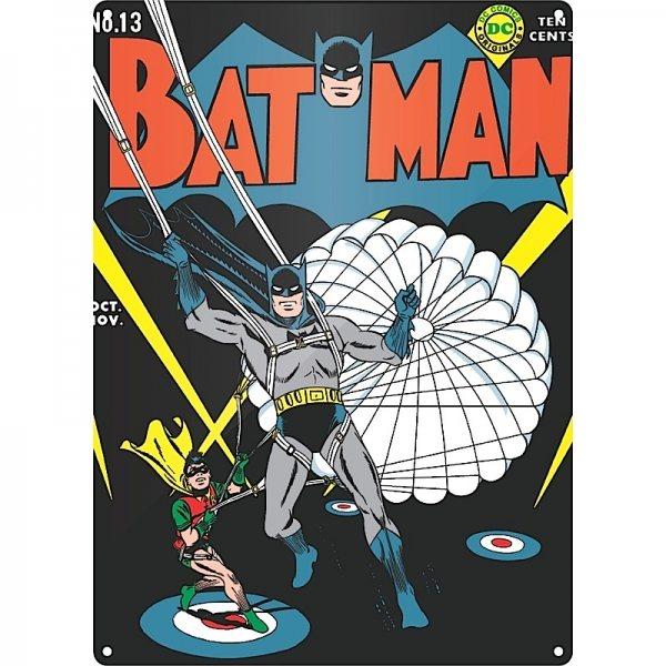 DC Comics - Batman Blechschild - Batman & Robin (Parachute)