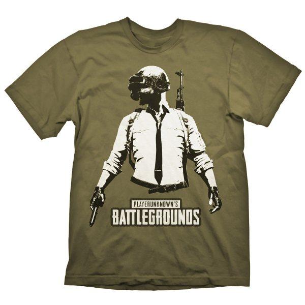 PUBG Playerunknown Battlegrounds Herren T-Shirt Oliv