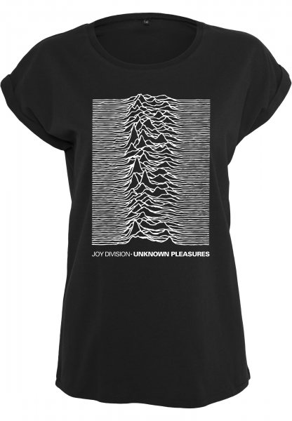 Merchcode Joy Division Unknown Pleasure Logo Oversize Damen T-Shirt