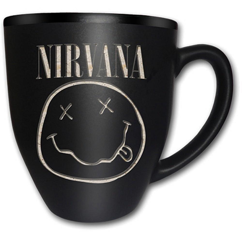 nirvana smiley logo tasse schwarz the studio deluxe. Black Bedroom Furniture Sets. Home Design Ideas