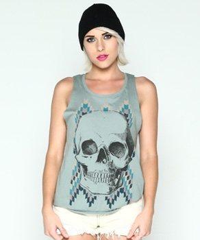 Loungefly Tribal Skull Damen Tank Top