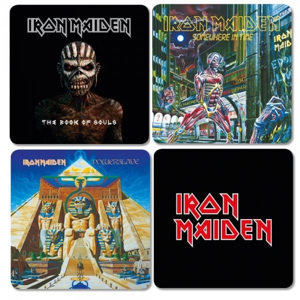 Iron Maiden Album Logo Untersetzer Set